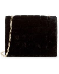 French Connection - Laine Velvet Crossbody Bag - Lyst