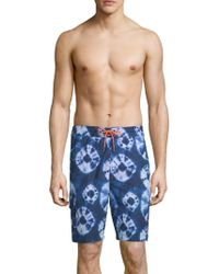 Tommy Bahama - Baja Deep Sea Printed Swim Shorts - Lyst