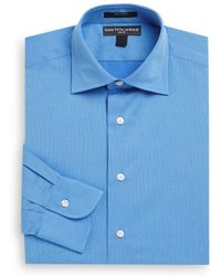 Saks Fifth Avenue - Slim-fit Cotton Pique Dress Shirt - Lyst