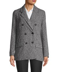 Ellen Tracy - Textured Double-breasted Blazer - Lyst