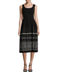 Max Studio - Smocked Jacquard Dress - Lyst