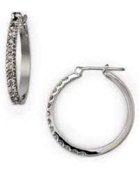 Effy - Diamond Hoop Earrings In 14 Kt. White Gold 0.5 Tcw - Lyst