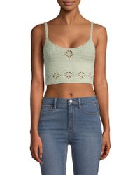 Free People - Crochet Cropped Top - Lyst