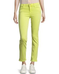 J Brand - Photo Ready Mid-rose Cropped Rail Jeans - Lyst