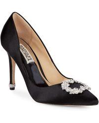 Badgley Mischka - Nichole Embellished Satin Court Shoes - Lyst