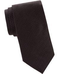 Armani - Herringbone Silk Tie - Lyst