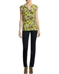 Lafayette 148 New York - Joanie Floral-print Silk Blouse - Lyst
