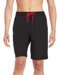 Saks Fifth Avenue - Cargo Swim Shorts - Lyst
