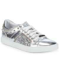 Alessandro Dell'acqua - Low-top Metallic Sneakers - Lyst