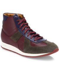Facto - Leather Lace-up High-top Trainers - Lyst