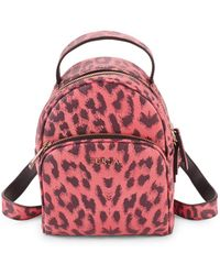 Furla - Leopard Mini Leather Backpack - Lyst