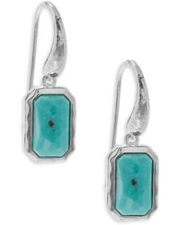 Ippolita - Rock Candy Turquoise And Sterling Silver Rectangular Mini-drop Earrings - Lyst