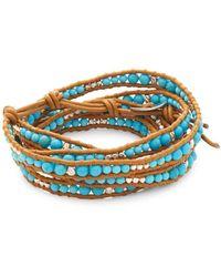 Chan Luu - Leather Multi-strand Wrap Bracelet - Lyst