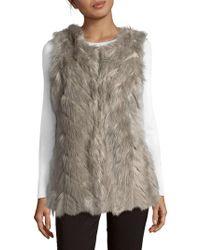 Cliche - Sleeveless Faux Fur Vest - Lyst