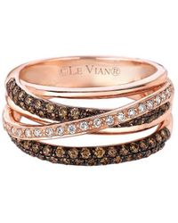 Le Vian - Chocolatier® 14k Rose Gold & Diamond Gladiator Weavetm Ring - Lyst