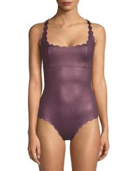 Pilyq - Reversible One-piece Scalloped Swimsuit - Lyst