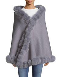 La Fiorentina - Wrap Fox Fur Wrap - Lyst