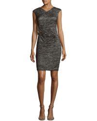Calvin Klein - Embellished Sheath Dress - Lyst