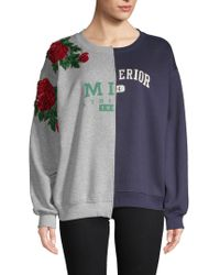 Lea & Viola - Mixed Graphic Sweater - Lyst