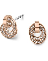 Michael Kors - Double Ring Pavé Stud Earrings - Lyst