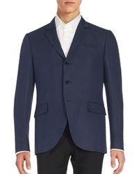 John Varvatos - Regular-fit Linen & Wool Sportcoat - Lyst