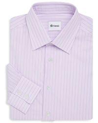 Brioni - Pinstripe Dress Shirt - Lyst