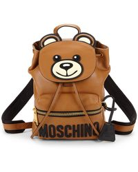 Moschino - Logo Leather Backpack - Lyst