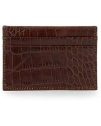 Abas - Embossed Leather Flat Card Case - Lyst