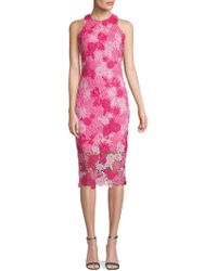 Alexia Admor - Floral Lace Midi Dress - Lyst