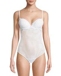 La Perla - Lace Panel Bodysuit - Lyst