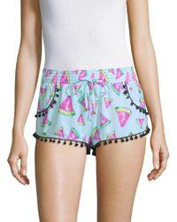 Pilyq - Watermelon-print Pom-pom Shorts - Lyst