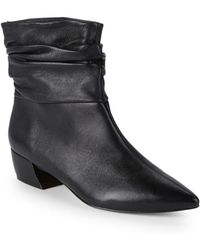 Saks Fifth Avenue - Slouchy Leather Ankle Boots - Lyst