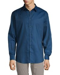 Ben Sherman - Dotted Button-down Shirt - Lyst