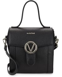 Valentino By Mario Valentino - Agnes Leather Top Handle Bag - Lyst
