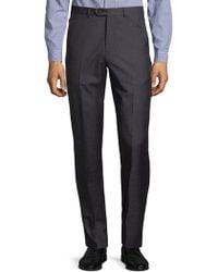Armani - Melange Textured Trousers - Lyst