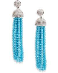 Saks Fifth Avenue | Silvertone Cubic Zirconia Earrings | Lyst