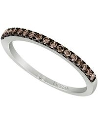 Le Vian - Chocolatier Chocolate Diamond And 14k Vanilla Gold Band Ring - Lyst