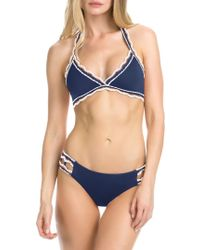 Becca - Crochet Halterneck Bikini Top - Lyst