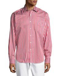 Bugatchi - Striped Cotton Casual Button-down Shirt - Lyst