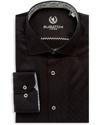 Bugatchi - Cotton Long-sleeve Dress Shirt - Lyst