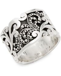 Lois Hill - Sterling Silver Embossed Floral Ring - Lyst