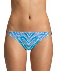 Carmen Marc Valvo - Strappy-side Printed Bikini Bottom - Lyst