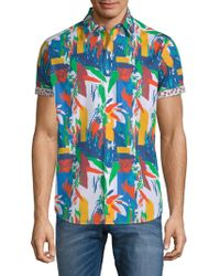 Robert Graham - Lakelane Short-sleeve Cotton Button-down Shirt - Lyst