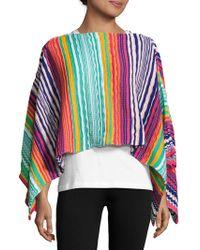 Missoni - Multicolored Crochet Cape - Lyst