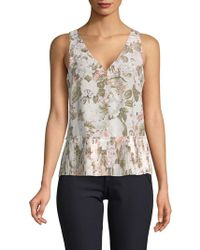 Rebecca Taylor - Penelope Floral Silk Top - Lyst