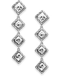 John Hardy - Four-dangle Sterling Silver Linear Drop Earrings - Lyst