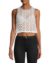 English Factory - Floral Cropped Tank Top - Lyst