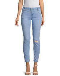 Free People - Mara Distressed Skinny Jeans - Lyst