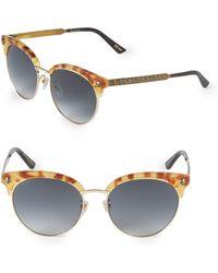 9938009fb49 Gucci - 56mm Clubmaster Sunglasses - Lyst
