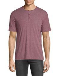 John Varvatos - Short Sleeve Henley T-shirt - Lyst